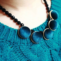 Latest Design Velvet Choker Necklace Black