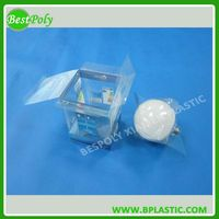 Plastic box blister packaging for LED bulbs