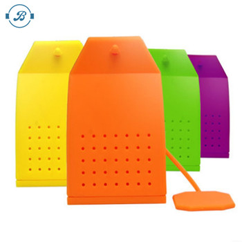 colorful silicone tea bag and infuser for kitchen gadgets