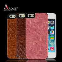 Pink leather mobile phone case for iphone case for iphone 5s case