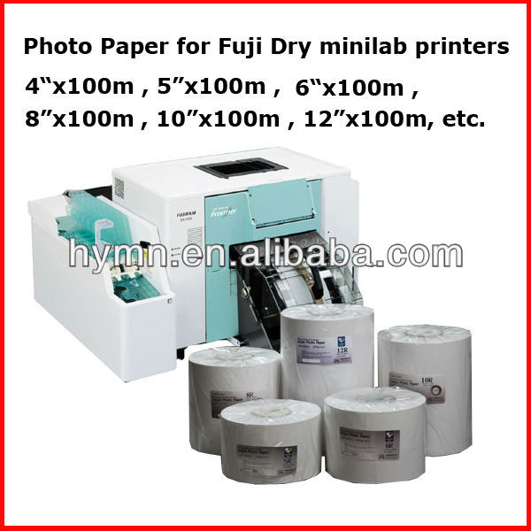 straight 100% water proof fuji Dye Minilabs DL410 DL430 DL450 DL600 inkjet photo papers
