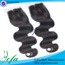 Closely simulate skin wholesale silk base virgin cambodian hair closure