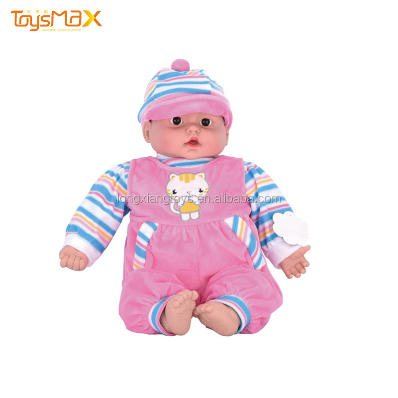 Plastic Baby Doll With Music Reborn Silicone Vinyl Toy For Children