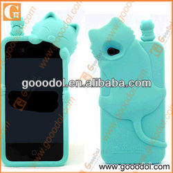 2013 funny cat silicone cover for iphone 5
