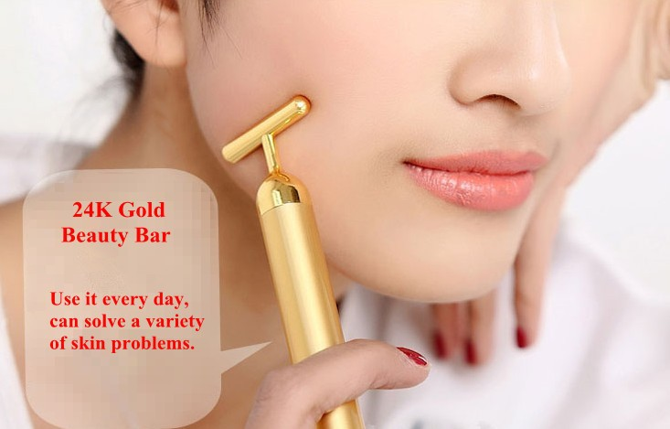 Best Products For Import 24K Gold T Shape Bar Home Use Electric Facial Massager