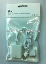 apple dock To HDMI +USB Charger Adapter for iPad 2 3