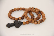 Olive Wood Rosary with Holy Soil Cross