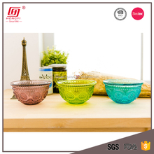 New design decorative colored household items lead free fancy mini glass dessert bowls