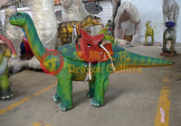 hot sale amusement children playground small size running dinosaur animals