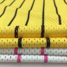 Tongxiang manufacture 100% polyester birdeye golf shirts Open Weave Micro Dress Mesh fabric