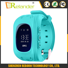 2016 Child Anti Lost SOS Call Location Finder Locator Tracker GSM GPS Kids smart watch Q50