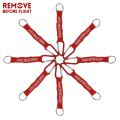 Remove Before Flight Key Chain Red Keychain Woven Letter Keyring Jewelry Aviation Tags OEM Key Chains Safety Tag