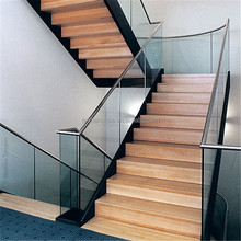 Home prefab wood stair tread glue staircase not straight