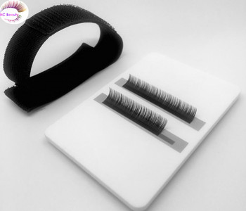 Acrylic Hand lash Holder pallet Tray Eyelash extension application tools, Private logo printing