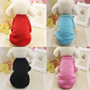fast delivery blank dog apparel pure color pet dog sweater plain dog clothes