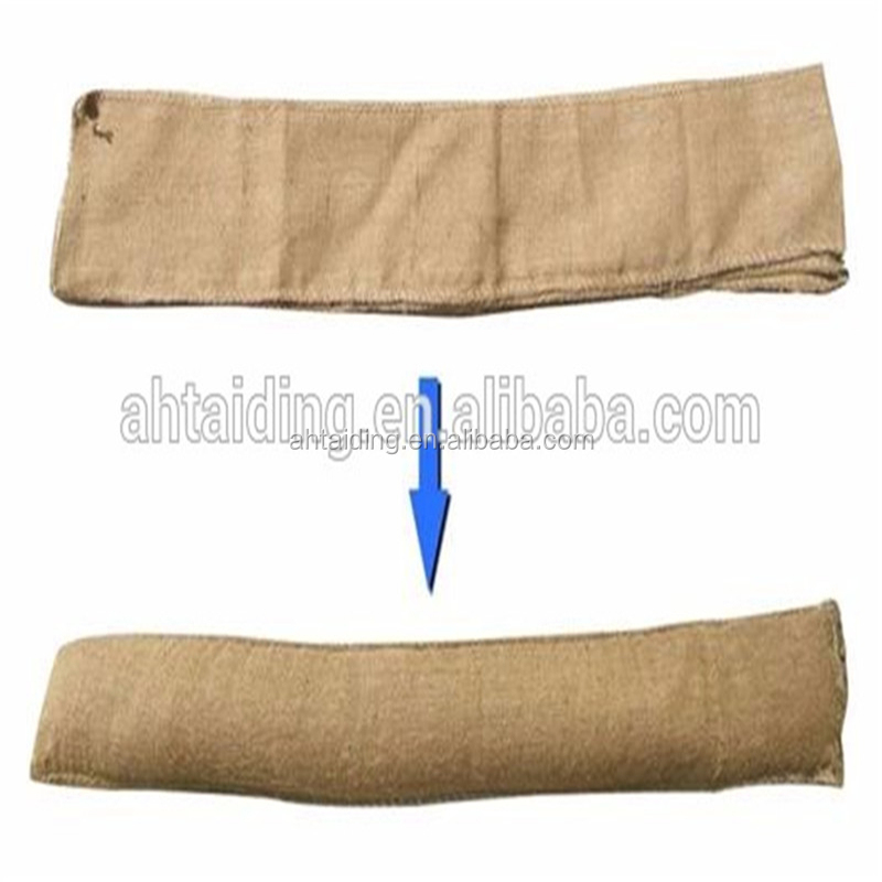 120x20 cm Jute SAP anti water flood control barrier sandless sandbag