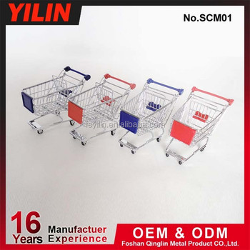 SCM01 - 6 chrome plate mini shopping cart for office caddy