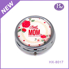 HX-8017 Classical fancy metal 30 day pill box,metal wholesale pill box