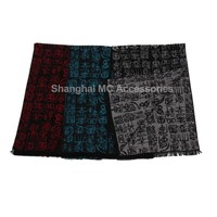 MC-0047, Silk brushed Chinese style scarf