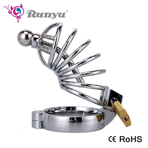 Steel Chastity cage Penis enlargement Cage Cock Lock System Male Restraint SM Sex Toy for small penis