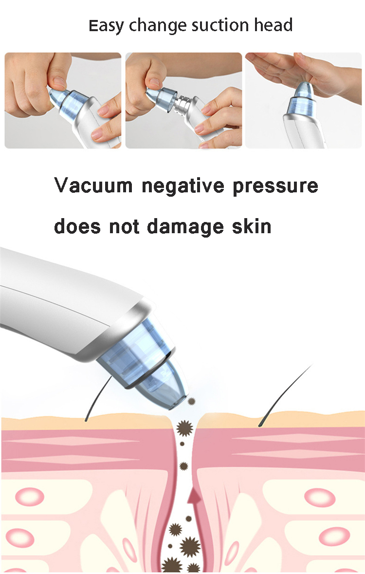 2019 new arrival 3D suction vacuum blackhead remover electric 4 heads