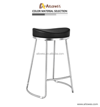 Stainless steel bar stool for heavy people