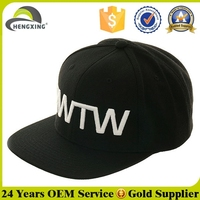 OEM Cheap Plain Flat Bill Custom 3D Embroidery Cheap Snapback Cap