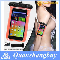 Ultra clear pvc phone waterproof bag with armband for iphone 6 plus 5.5""