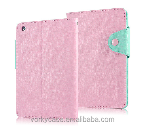 PU folio case for iPad mini with Retina display,with desk-stand function