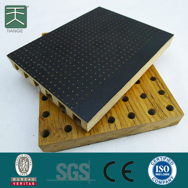 mdf sound absorption wooden perforated acoustic material for auditorium