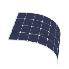 100W Thin Film Solar Module Price Semi Flexible Pv Solar Panel for For Boat Car RV Caravans Lorry Trailer Cabin Tent Vehicles