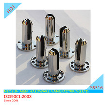 Stainless steel glass fittings Duplex 2205 spigot for swimming pool fence