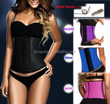 big girl sexy corset of waist cincher with 100% natrual rubber material and memory alloy steel boned