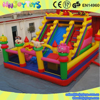 Alibaba hot sale Colorful Animal inflatable jumping castles slides