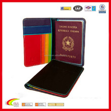 Leather Passport Holder Cover Travel Bag Holder ID Card Cover
