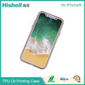 High Quality TPU Mobile Phone Cover Oil Painting Case Rubber Phone Case for iphoneX