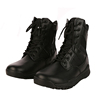Genuine leather and fabric tactical military boots swat