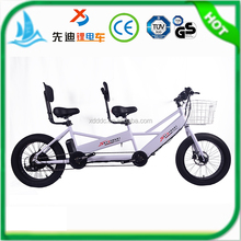Factory selling new developed 2 Seats Electric Tandem Bicycle used in park