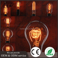 Retro lighting decorative filament energy saving industrial lamps 220v E27 vintage edison light bulb 40w A19 for pendant lamp