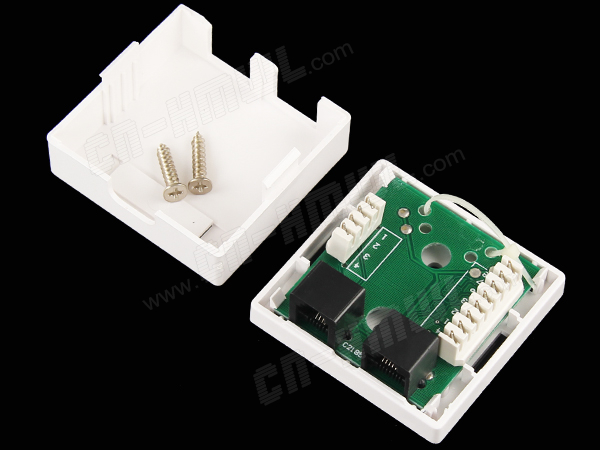 Plastic RJ45 RJ11 Surface Box