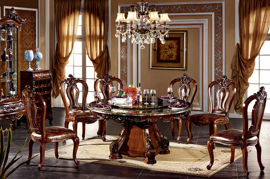 BISINI Luxury Hotel Round Marble Top Dining Table