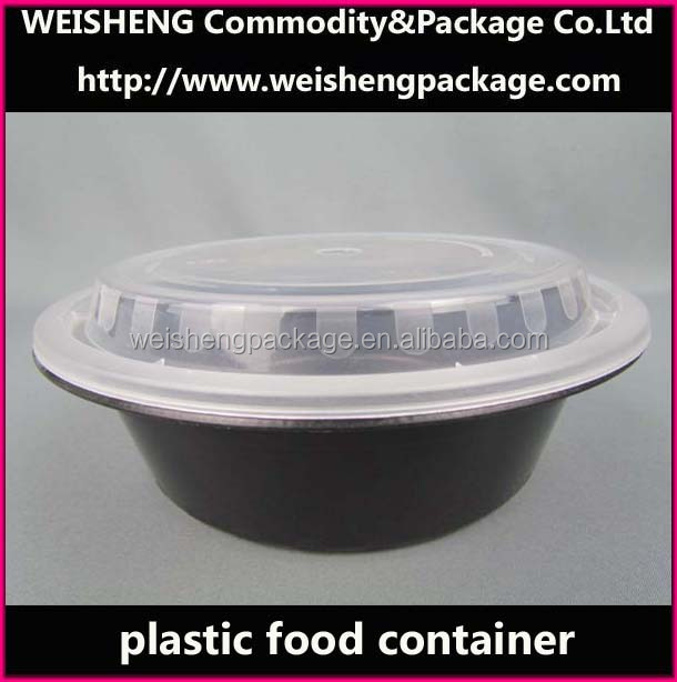 Black Microwave Safe Plastic Disposable Food /Packaging Container/lock plastic food container
