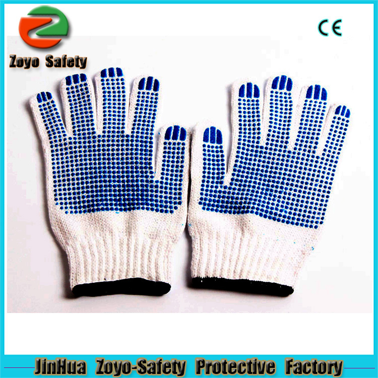 Hand protection High Quality PVC Dotted Cotton Industrial Hand Winter deerskin leather work gloves.