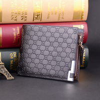 Male short wallet new men's wallet high quality fashion leather wallet