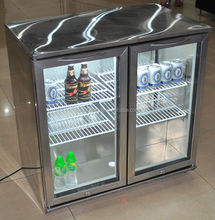 Glass display showcase/small showcases refrigeration/mini fridges used in bar