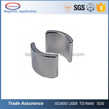 14 Years Experience ISO/TS 16949 Certificated Neodymium Electric Tool Motor Magnet