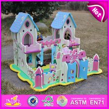 Top fashion kids pretend indoor wooden castle W06A001-S