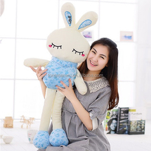 new design flashing electronic long legs rabbit plush toy
