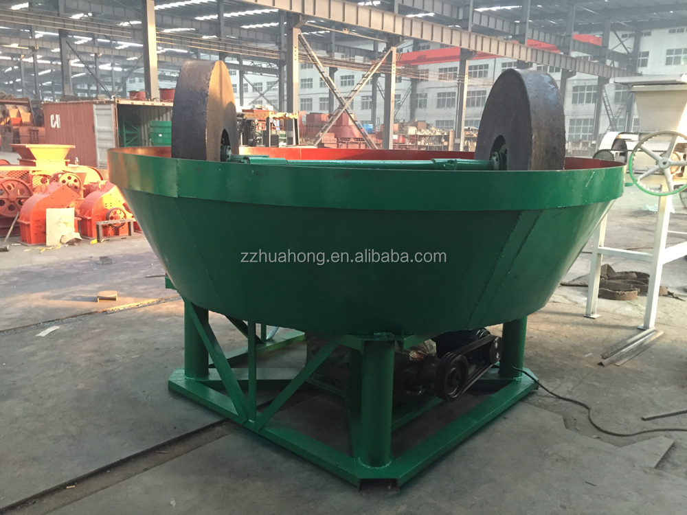 China professional gold mill for pure gold gold grinding machine wet pan mill