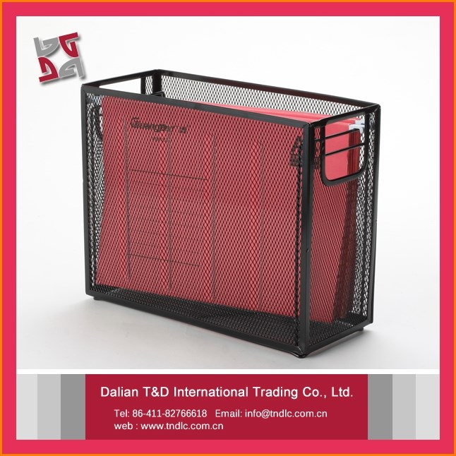 Decorative Metal Customized Office Mesh Stationery Set Desk Organizer File Holder